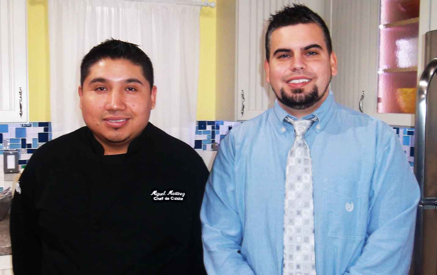 recipes from the chef s kitchen show  miguel martinez kitchen manager left derek smith assistant general manager right